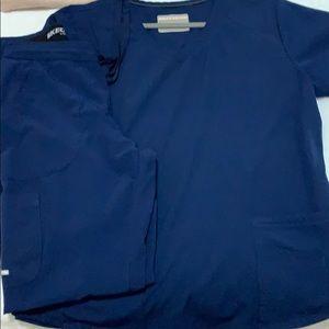 Navy Blue Scrub Set